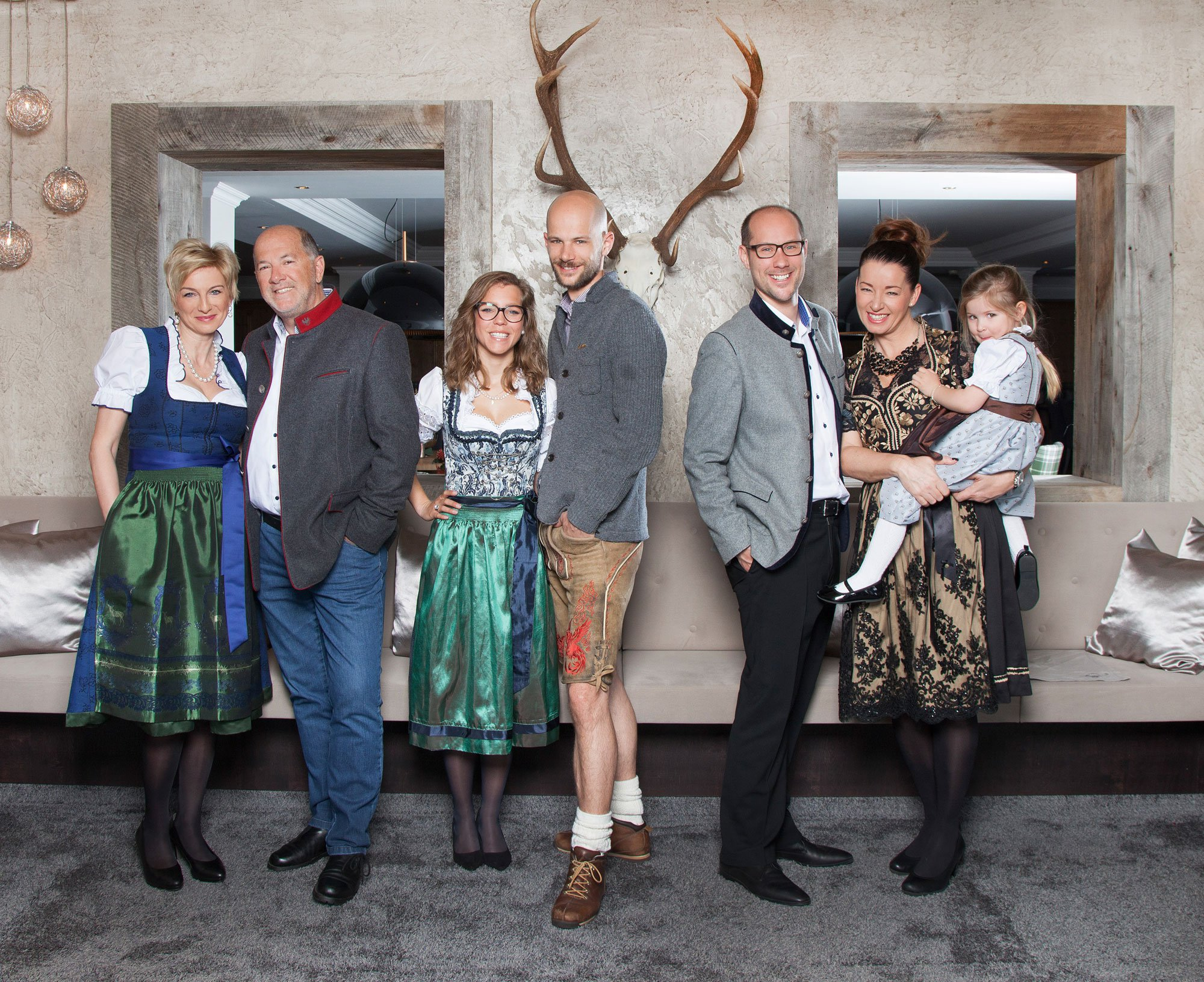 Your host the family Gerber in you winter holiday at the hotel Mooshaus in Tyrol.