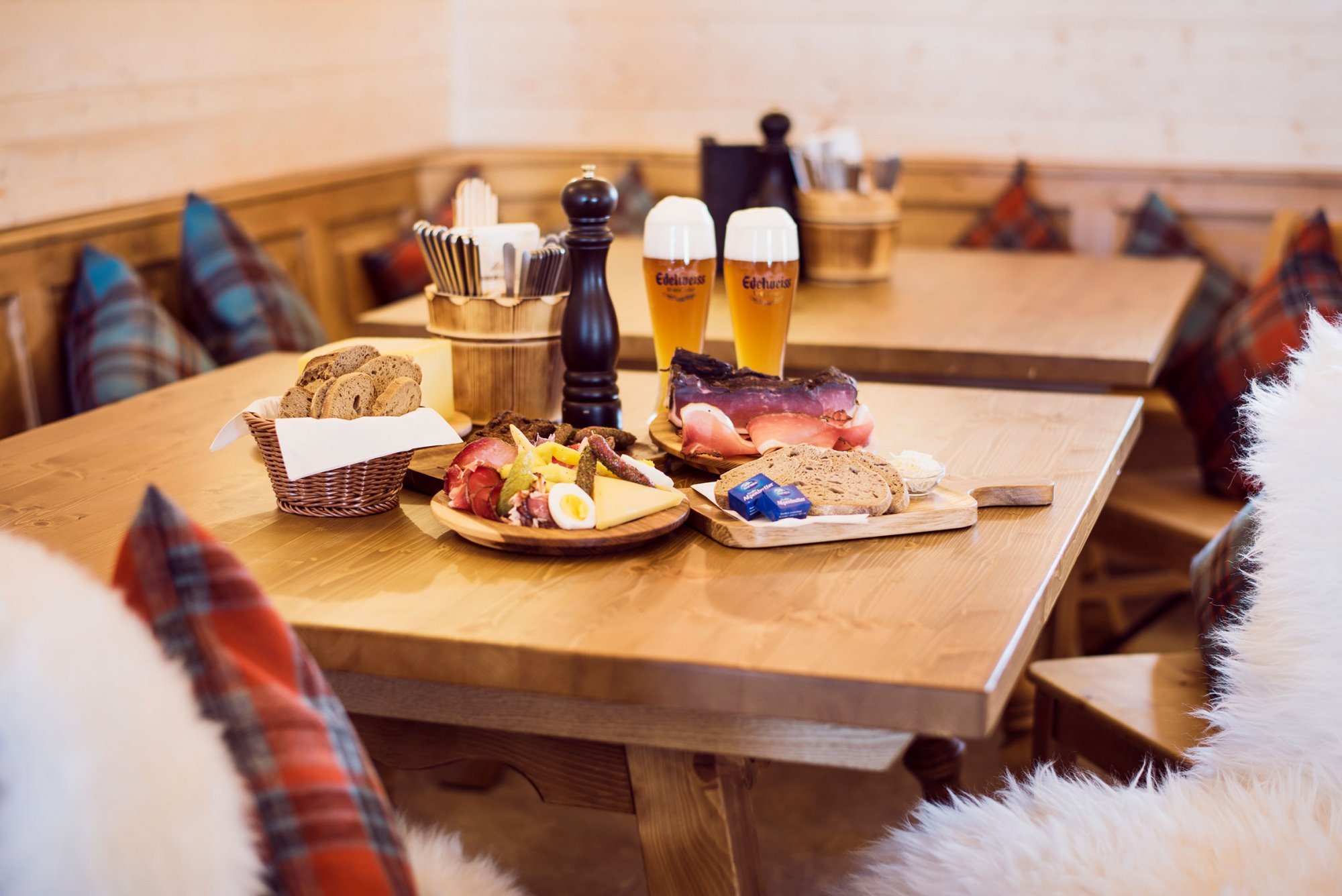 A backdrop and replenish your strength with the traditional Tyrolean fare on offer.