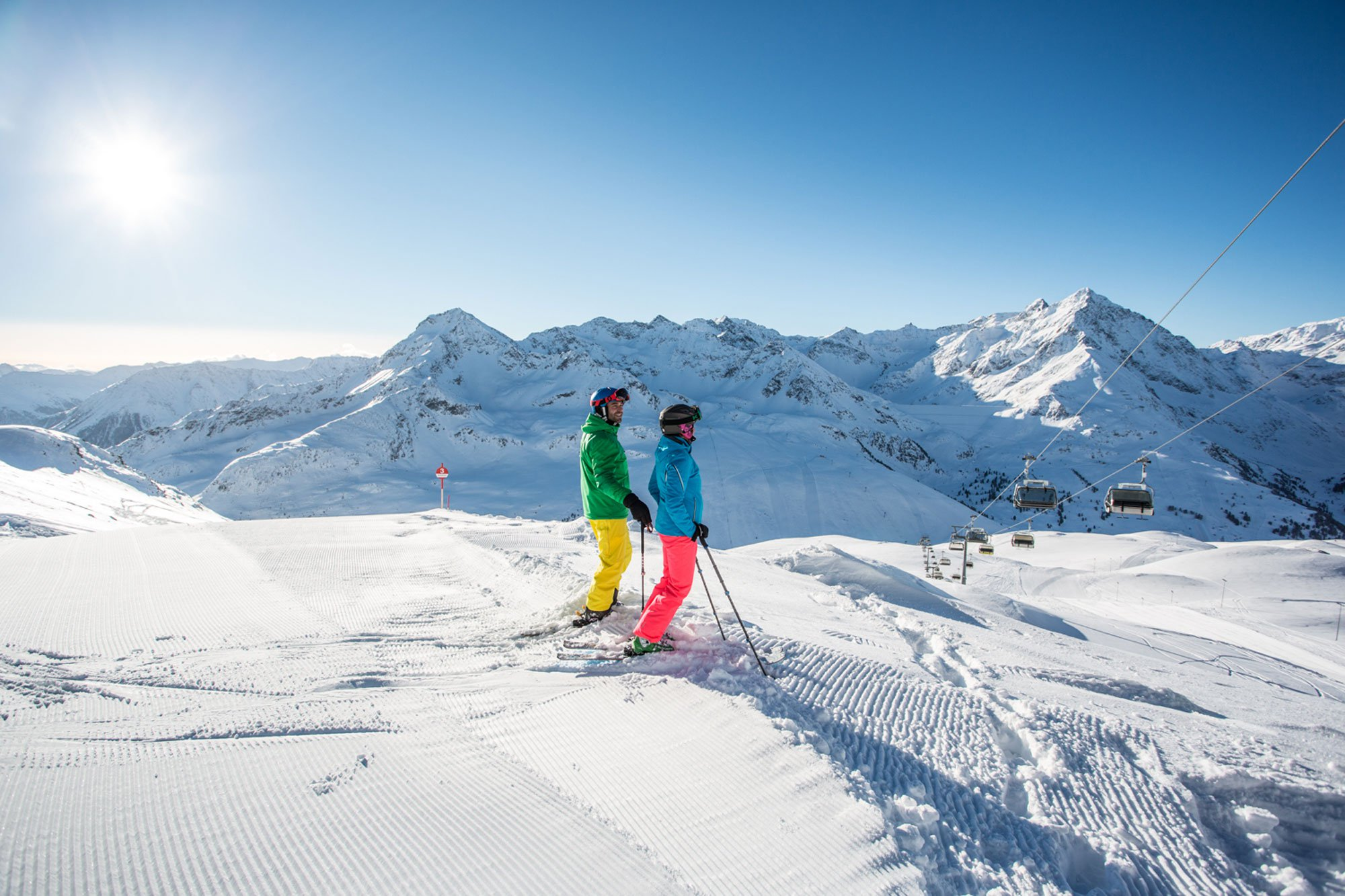 Kühtai is a snow-guaranteed ski area in the middle of the Tyrolean Alps.